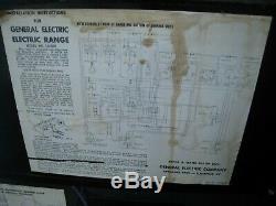 Vintage General Electric Stove Aqua 1956 Libérateur Double Four Rang 1j408n Works