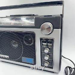 Vintage General Electric Superadio II 2 Ge Radio Longue Portée Am/fm 7-2885 Essais