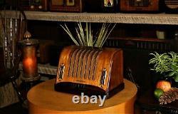 Vintage General Electric Tube Radio, Restauré, Modèle Gd 63, 1938