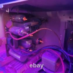 Vintage General Electric Tube Réveil Radio Lot Rose Et Bleu