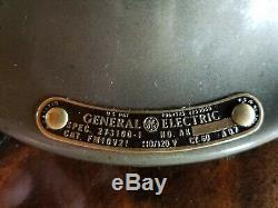 Vintage General Electric Vortalex 10 Pouces Lame 1935 Ventilateur Restauré