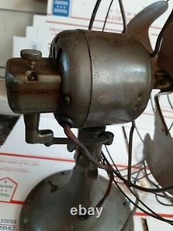 Vintage General Electric Vortalex 2 Vitesse Tableau Fan Bullwinkle Pendulaire Lames