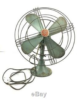 Vintage General Electric Vortalex 3 Vitesse Oscillant Fan N ° 91 Travaux