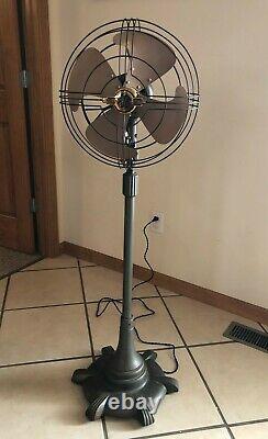 Vintage General Electric Vortalex Floor Pedestal Oscillating Fan Fm12m11 Rare