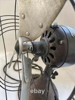 Vintage General Electric Vortalex Oscillant 3 Pièces D'éventail De Vitesse Ou De Restauration
