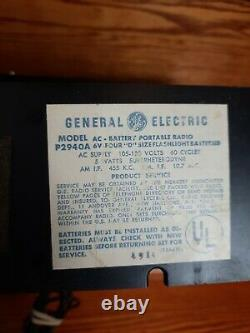 Vintage General Electric World Monitor P2940a Solid State Am/fm Radio Rare