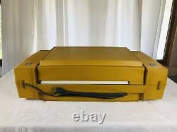 Vintage General Electric Yellow Ge Wildcat Testé Et Joueur De Disque De Travail