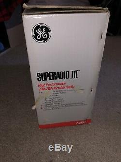 Vintage III Superadio 3 General Electric Ge À Longue Portée Am / Fm Radio Super Openbox