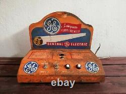 Vintage Mexicain General Electric Ge Ampoule Lumineuse Fluorescente Écran 60 ́s