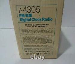 Vintage Nos Ge General Electric Fm/am Digital Flip Clock Radio 7-4305