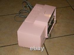 Vintage Pink General Electric Radio Home Am Réveil Ge Modèle C-416 Rare 12