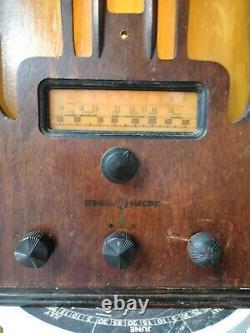 Vintage Radio General Electric 1936 Modèle E-71 Transformé En Une Lumière Nouvellement Conçu