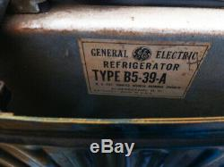 Vintage Réfrigérateur (1939-'40) Général Electric Type B5-39-a, Still Runs