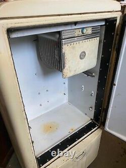 Vintage Réfrigérateur Par General Electric As-is