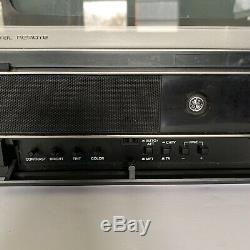 Vintage Retro Ge General Electric 13 Tv 1987 Télévision Faux Boiseries De Travail