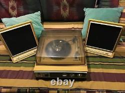 Vintage Système Sonore Général Électrique Turntable Stereo Testé