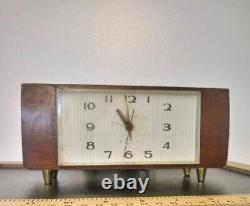 Vintage Telechron Ge Electric Tv Clock MID Century Danish Modern MCM Working