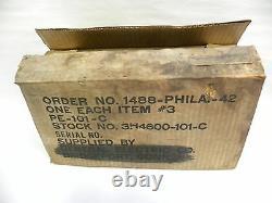 Vintage U. S. Signal Corps D'armée Wincharger Ge General Electric Dynamotor Unité (t)