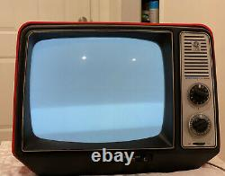 Vintage1977 Ge General Electric Xb2456ro Télévision Portable Performance