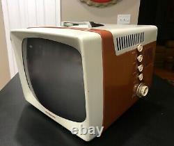 Vtg 1957 General Electric Portable Television Model 17t026 -bel État