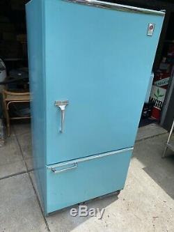 Vtg 1960 1970 Ge Général Réfrigérateur Électrique Réfrigérateur Swag Moderne Teal Tcf15sa