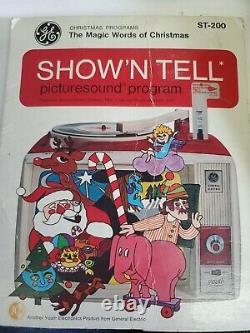 Vtg 1960's Ge Show'n Tell Phono Viewer A651c 14 Histoires Besoins De Travail Aiguille