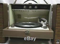 Vtg 1962 General Electric Ge Rp2051a Tube Amp Enregistrement Changer Lecteur Turntable