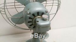Vtg Antique 12 Ge General Electric Fan 2 Vitesse Oscillant 84 Cy60 ± 0,8 133744