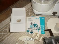 Vtg Bosch Um3 Universal Mixer Food Processor Avec Pièces Jointes Blender Grinder