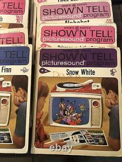 Vtg Ge Show'n Tell Radio Phono Viewer Avec 19 Picture Sound Programs Works Vidéo