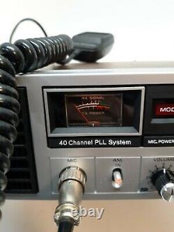 Vtg. General Electric Cb Transceiver Base Station Modèle 3-5869a Radio À Deux Sens