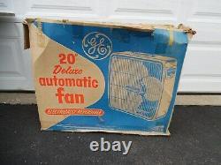 Vtg General Electric Deluxe Automatic Réversible Fenêtre Boîte En Métal À 3 Vitesses