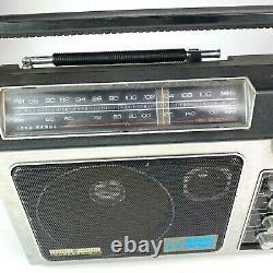 Vtg General Electric Superradio II 2 Casque Am Fm À Longue Portée Capable 7-2885d