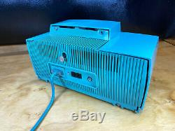 Vtg General Electric Turquoise Bleu Radio 1958 Alarme 50 Horloge